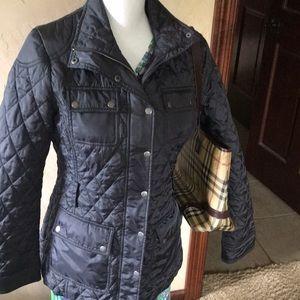 Banana Republic Black Quilted Jacket  Coat - Sz M